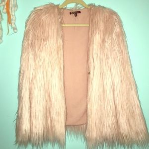 Pink Shaggy Fur Coat